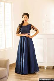 coloured dress enchanting blue coloured banglori silk embroideried anarkali gown