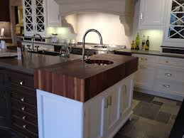 end grain butcher block wood countertop in white kitchen brooks