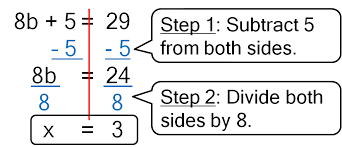 solving two step equations practice 1 worksheet answers tessshlo