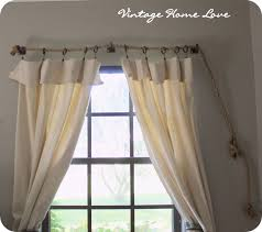 vintage home love curtain rod and diy curtains