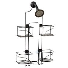 zenna home 4 tier corner shower caddy in white e2104w the home depot