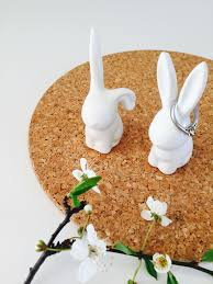 ceramic rabbit ring holder images Ceramic bunny rabbit ring holders jpg