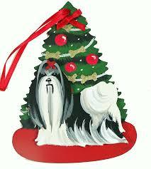 black u0026 white shih tzu dog lover christmas ornaments u2013 for the