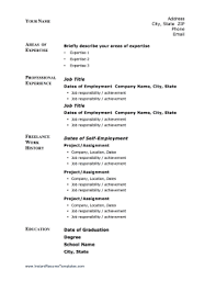 freelance resume template