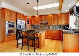 cuisine en dur beau île plancher bois dur granit cuisine port wa