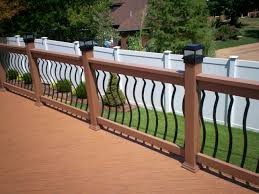 Metal Banister Spindles Metal Deck Railings With Iron Railing Systems Ideas Designs