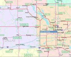 map of iowa towns iowa zip code map