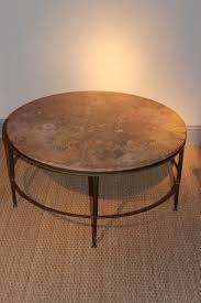 stylish 1950s french marble top brass coffee table coffee low