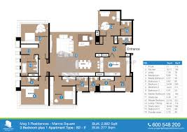 Floor Plans For Apartments 3 Bedroom by Floor Plan Mag 5 Residences Marina Square Al Reem Island