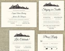 philadelphia skyline destination wedding invitation sle
