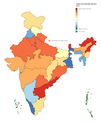 National Election Results Map by 2017 Indian Presidential Election Results 3818x4600 Mapporn