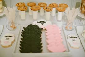 reveal baby shower mustaches and baby shower ideas themes