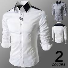 new top designer mens slim fit long sleeve casual shirt tops