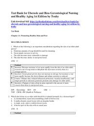 download test bank for ebersole and hess gerontological nursing