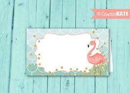 pink flamingo food labels instant download favor tags