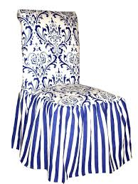 Striped Dining Chair Slipcovers Amazon Com Classic Slipcovers Csi Damask Ruffled Dining Chair