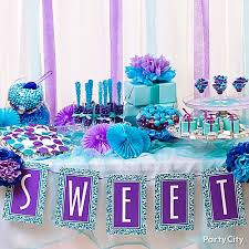 Decorations For Sweet 16 Purple And Blue Wedding Table Decor 1341