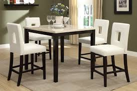 pub height table and chairs counter height marble top dining set wehanghere