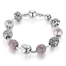 pandora silver link bracelet images Wholesale diy pandora antique 925 silver charm bangle bracelet jpg