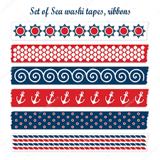 Washi Tape Designs by Set Of Summer Sea Washi Tapes Ribbons Vector Elements Cute