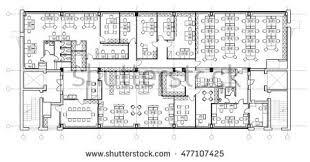 Floor Plan Drawing Symbols Standard Office Furniture Symbols Set Used Stock Vector 525801505