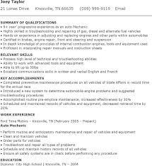 Mechanic Resume Template Mechanic Resume Template Auto Mechanic Resume Template Auto