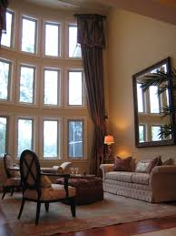 Window Treatment For Bow Window Curtains Tall Window Curtains Decorating Treatment Ideas For Tall