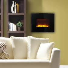 fire sense 30 in wall mount electric fireplace in black 60757