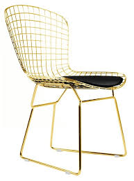 Bertoia Dining Chair Side Chair In Gold
