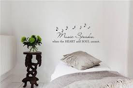 music speaks when the heart and soul cannot vinyl wall art