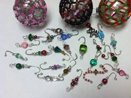 ornament hooks beaded and mini sized fancy up the tree as