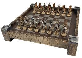 fantasy chess set skeleton slayer gothic fantasy skull chess set w castle board ebay