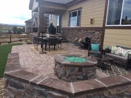 Fire Pit Lava Rock by Castle Rock Douglas County Colorado Landscape Design Specialists