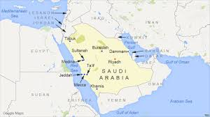 map of tabuk saudi court sends to for espionage sorcery