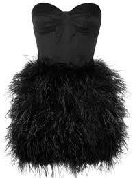 dress black dress prom dress feathers short dress wheretoget