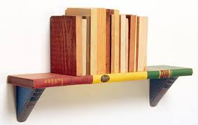recycled books turned into creative bookcase designs