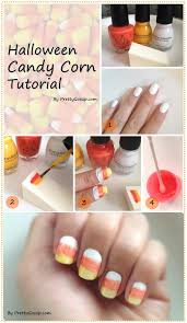 how to sponge halloween candy corn nail diy pretty gossip