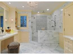 Yellow Tile Bathroom Ideas Bathroom Large Classic Master Corner Shower Yellow Cabinets