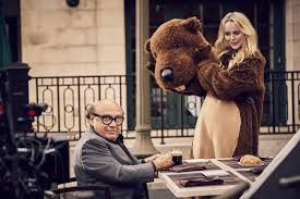 nespresso commercial female actress danny devito with supporting swedish actress model helena mattsson