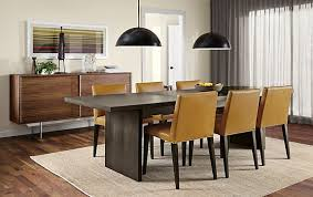corbett table with ava leather chairs modern dining room