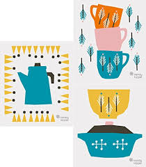 now designs kitchen towels now designs tea towels wine pairings print set of 2 kitchen