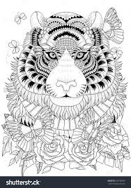 coloring pages of tigers 1079 best colouring animals zentangles images on pinterest