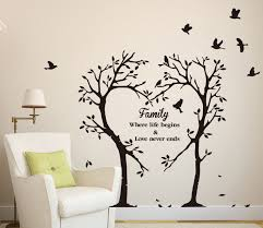 wall design ideas letter press family tree wall decal