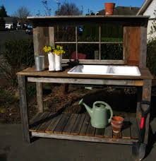 potting table with sink garden potting table garden potting bench with sink rustic window p