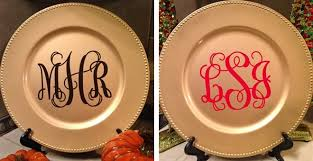 monogrammed platter monogrammed plate chargers christmas gift