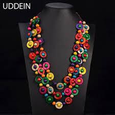 ethnic necklace images Uddein bohemia ethnic necklace pendant multi layer beads jewelry jpg