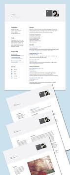 free modern resume templates 15 free high quality cv resume cover letter psd templates