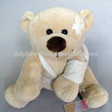 get well soon teddy get well soon patient gift custom injured stuffed teddy plush