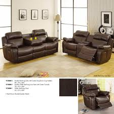 homelegance marille double reclining sofa w center drop down cup