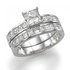 white gold wedding ring sets diamond bridal set fairy tale premier 2 3 carat 0 60ct
